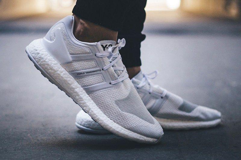adidas pure boost grey on feet
