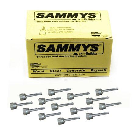 1/4-20 x 1 in  Sammys Rod Anchor Super Screw with Teks, 1/4