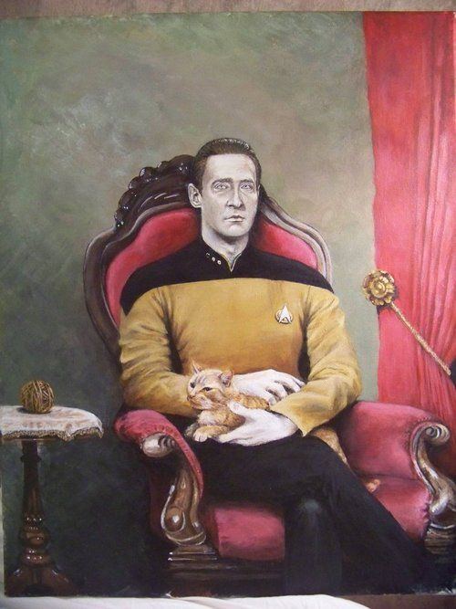 Amazing - Data and Spot Painting | Geeky Stuff | Star trek