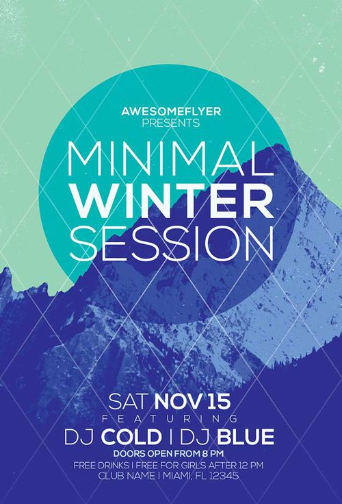 Minimal Winter Party Flyer Template  HttpWwwFfflyerCom