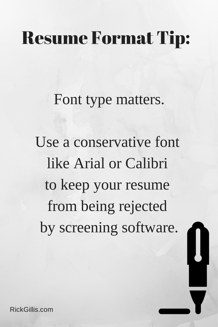 Resume Screening Software Did You Know Using A Serif Font Such As Times Roman Can Cause Your .