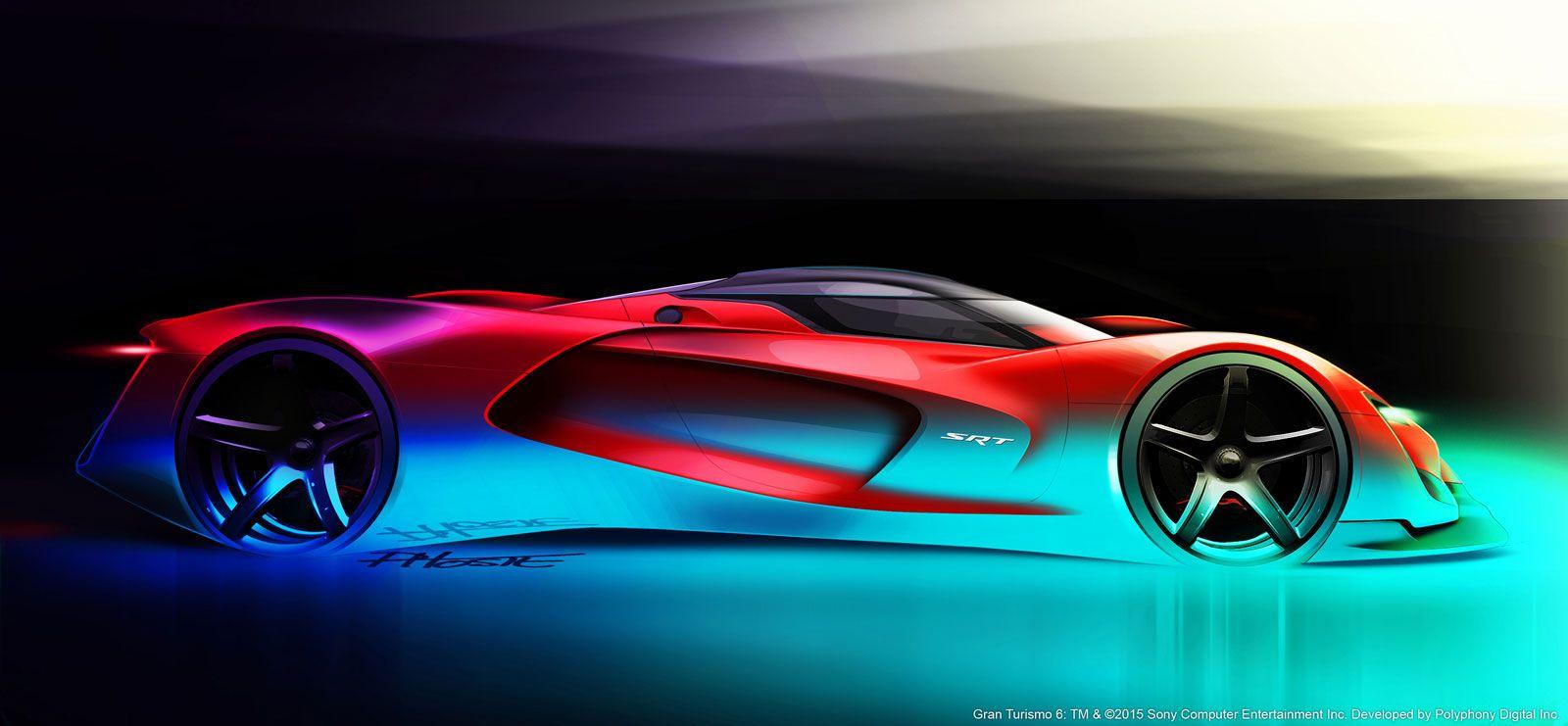 Srt Tomahawk Vision Gran Turismo Concept Design Sketch Super Cars Car Exterior Srt