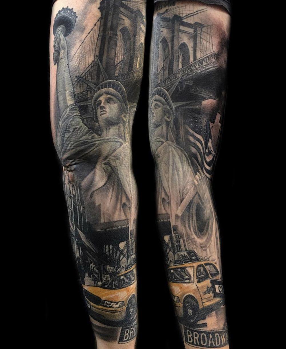 #newyork #newyorktattoo #tattooidea #realistictattoo #realismtattoo #tattooideas #londontattoo #tattoolondon #sixbulletstattoo #londontattoostudio #tattoosleeve #tattoodesign #newyorkcity #architecture #londontattooartist #londontattoos #realisticink blackandgreyartist #blackandgreytattoo #blackandgreylondon