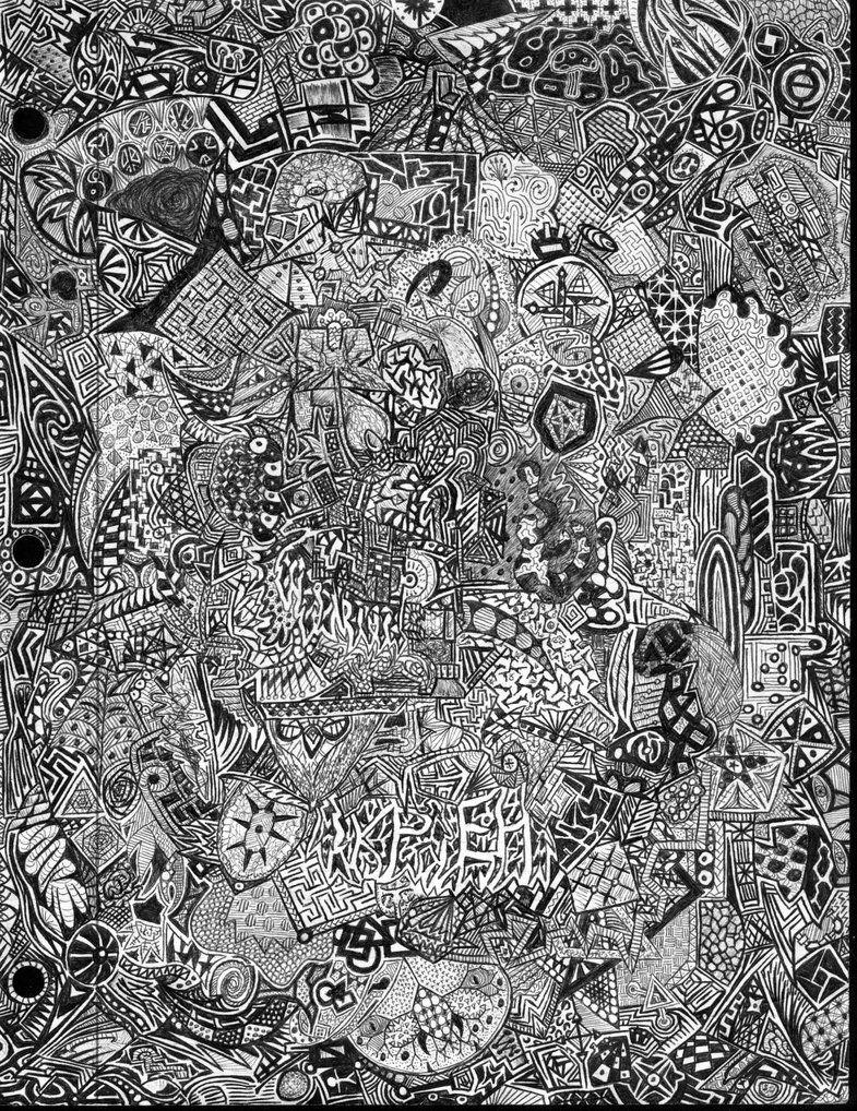 full page doodle 1 by krazykarl on deviantart doodle pinterest