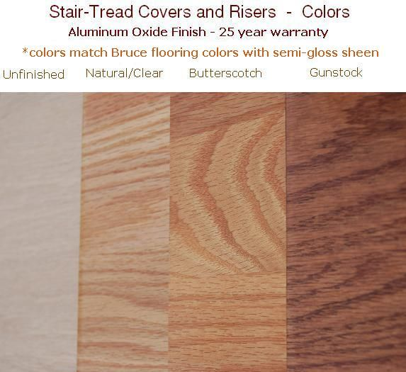 Best Replacement Stair Treads Hardwood Stair Tread Colors 400 x 300