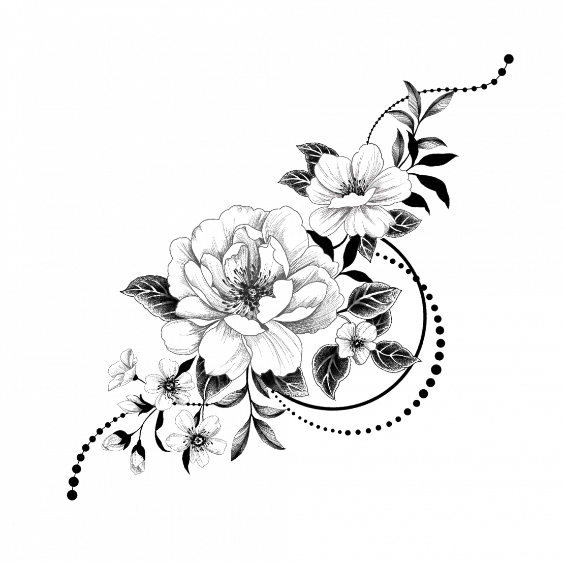 Free Clipart Of A Black And White Floral Vine Design