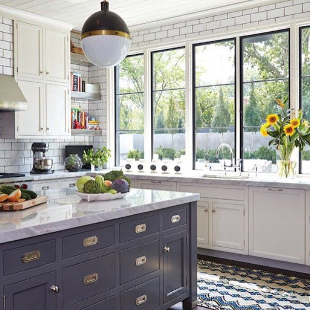 Ikea Kitchen Nashville: BECKI OWENS- Blue And White Kitchen With Open Shelving