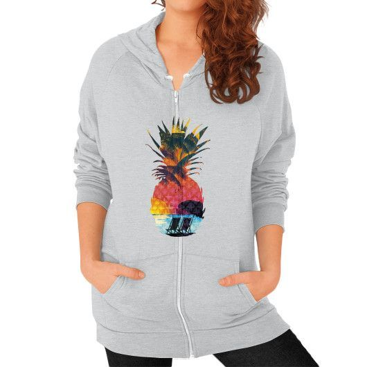 Summer Pineapple Zip Hoodie (on woman)