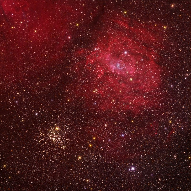 The Bubble and M52 (Oct 30 2009) Credit & Copyright: Tony ...