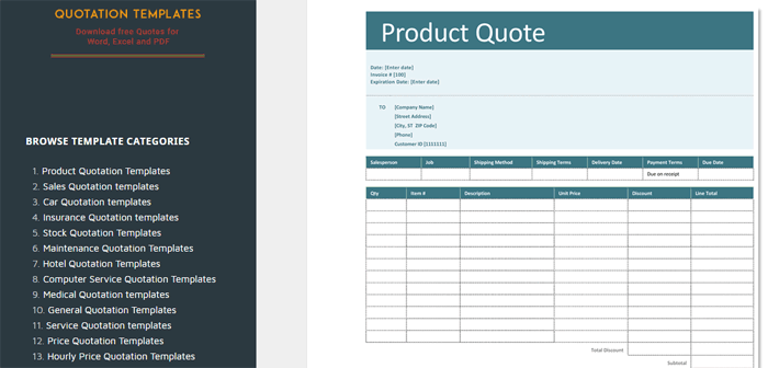 Quotation Templates  Improvise Your Business Proposal With