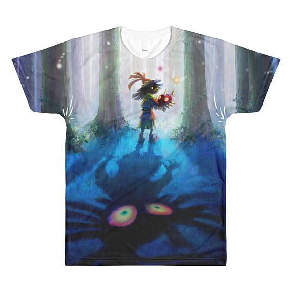 4b86e426fc The Legend of Zelda  Majora s Mask unisex sublimated T-shirt featuring the  Skull Kid. • Brand  LA Apparel • 100% polyester construction • Light and  soft ...
