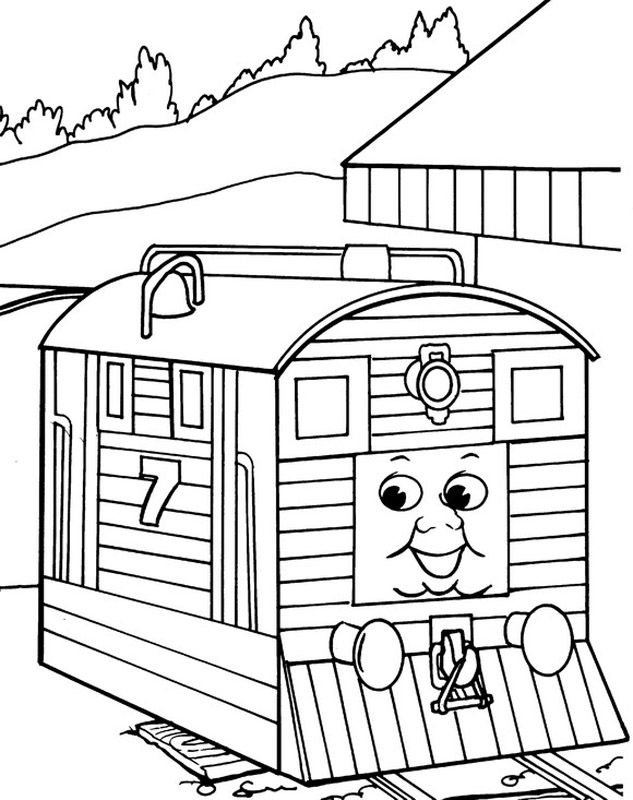 SC Ruffey Thomas The Train Coloring Pages