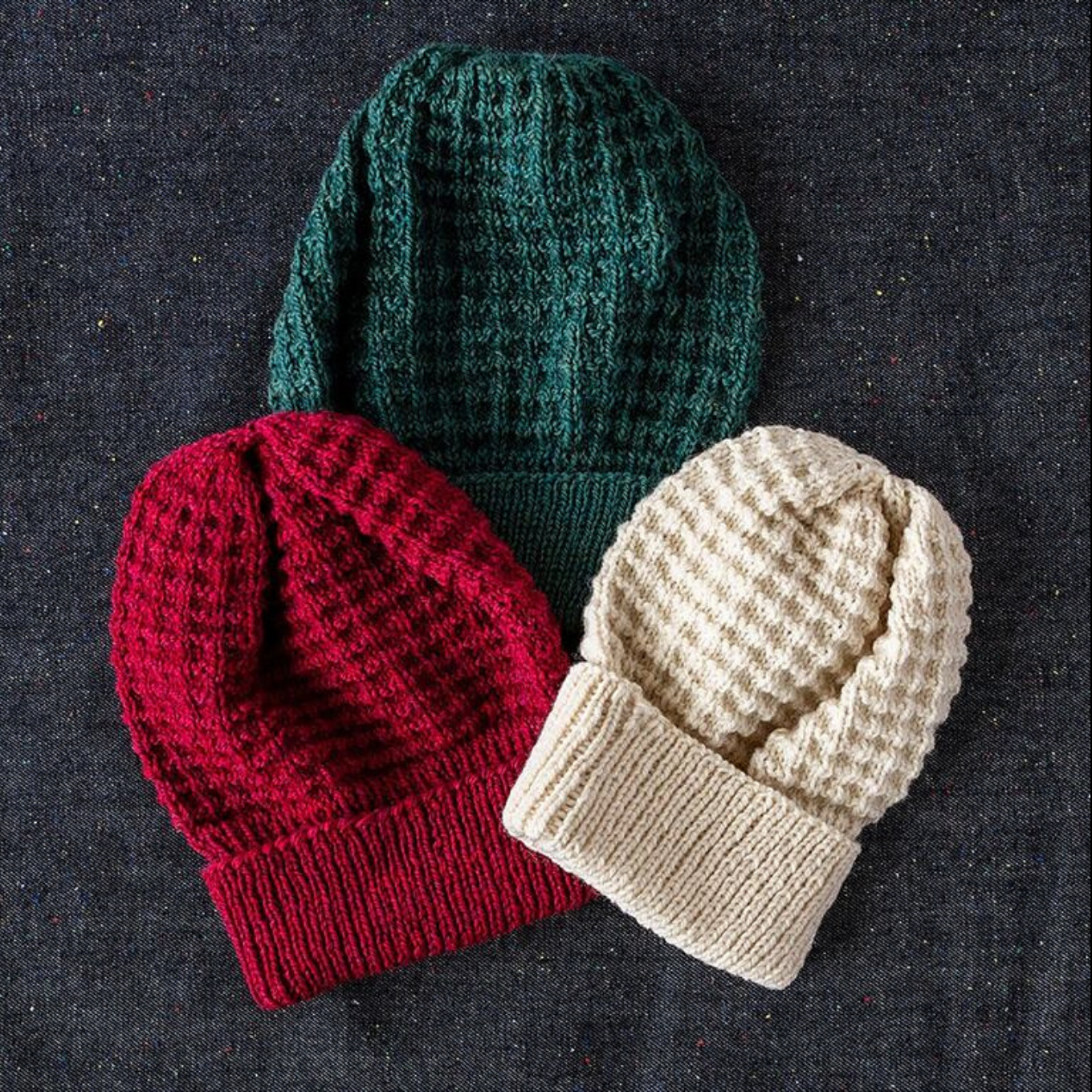 The Waffle Hat pattern by Craig Rosenfeld from Loop Yarn is the perfect one  skein unisex design featuring Kelbourne Woolens Scout! 0be46f2ff5a