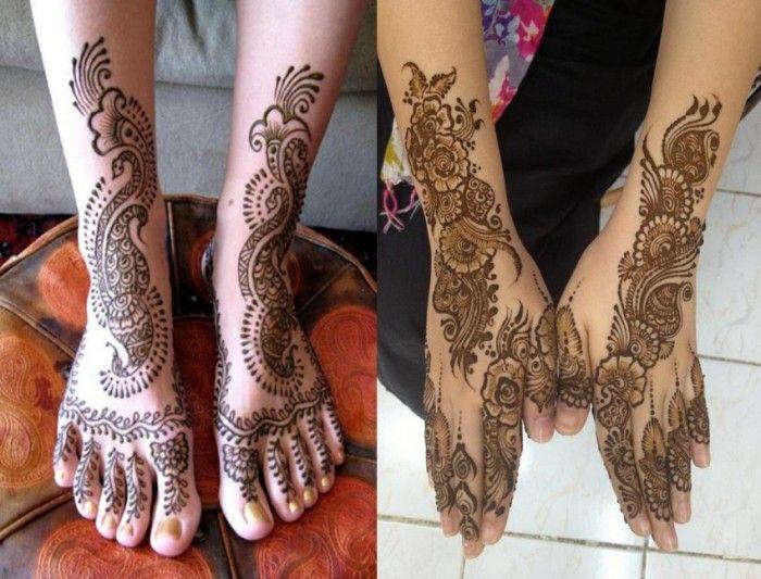Mehndi Design Leg And Hand : Simple bridal mehndi designs for legs