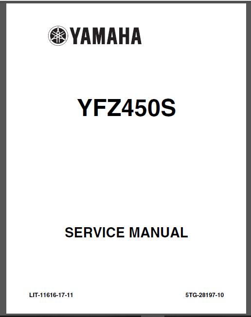 2004-2013 YAMAHA YFZ 450 ATV Service Repair Manual YFZ450