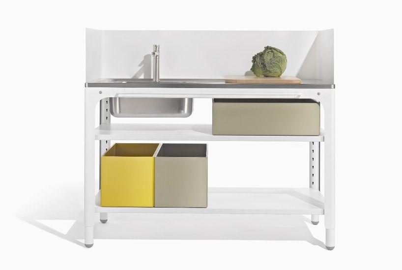 kilian schindler designs mobile + modular kitchen system for naber - designboom | architecture & design magazine