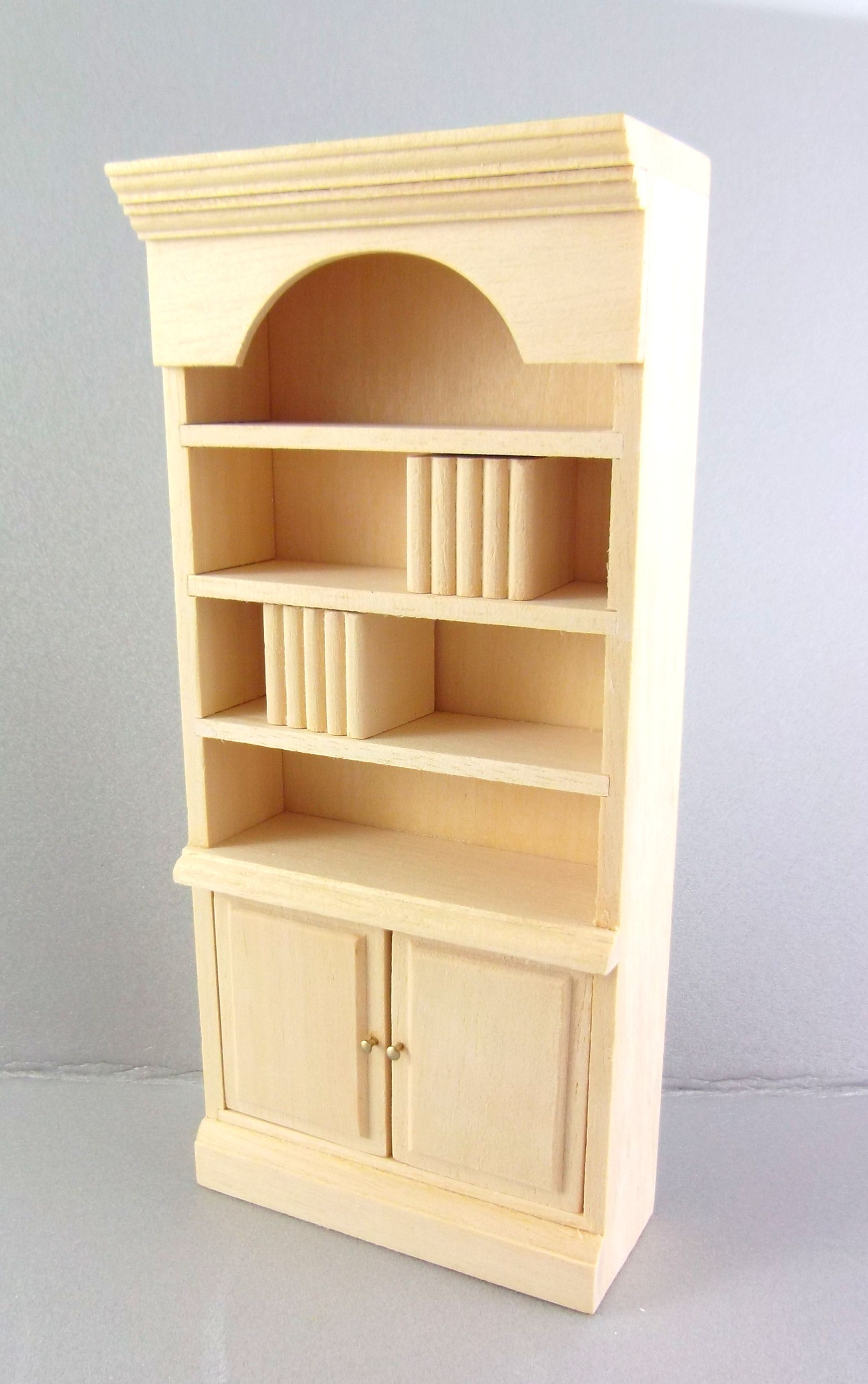 Dolls House Miniature 1 12 Unfinished Furniture Natural Wood Bookcase Shelf Unit