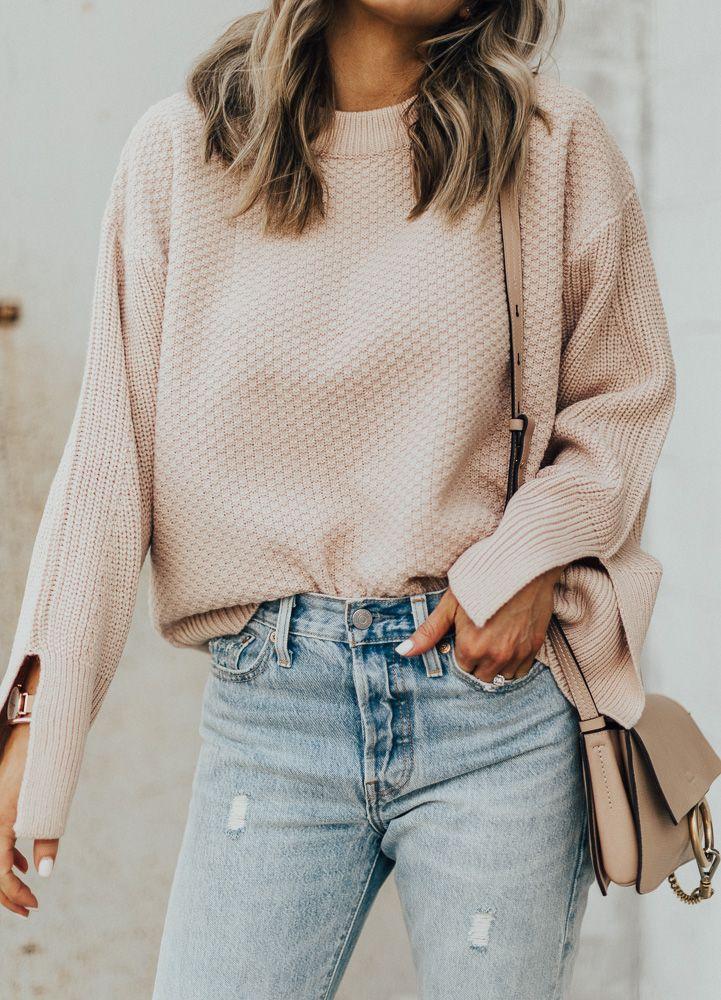 Blush Sweater Under $75 | Cella Jane
