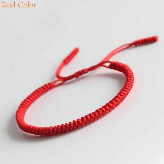 e80e432943 Original Multi Color Tibetan Buddhism Handmade Knot Lucky Rope Bracelet Red  Bangle RB001