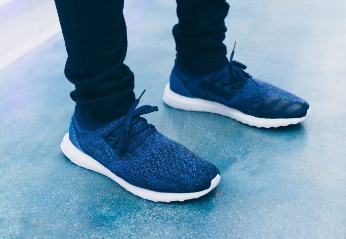 5dd4d1c9e4efa adidas x Parley Ultra Boost Uncaged Navy Ocean Blue Running Sneakers UK Size  10