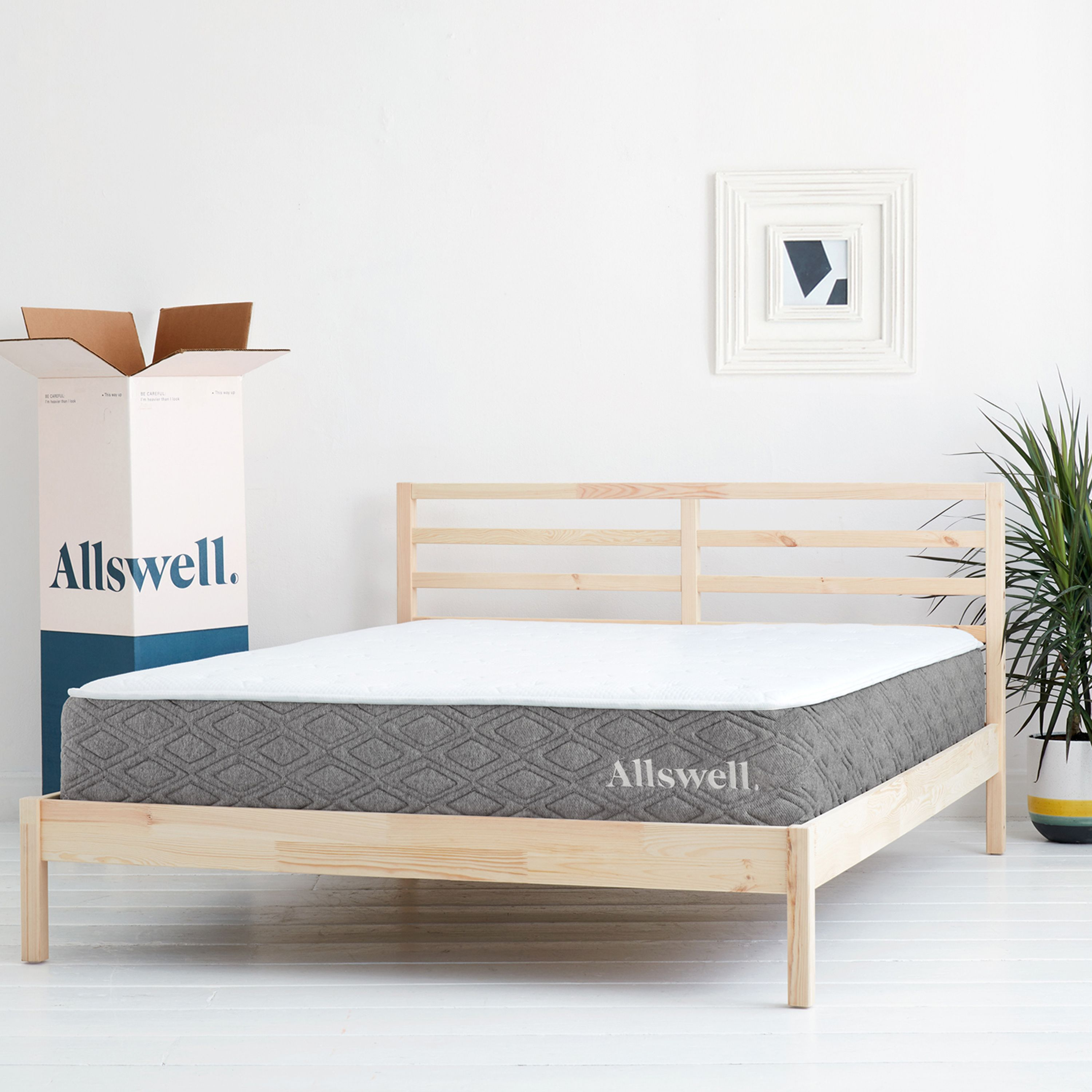 The Allswell Luxe Hybrid 12 Inch Bed In A Box Hybrid Mattress Queen Walmart Com In 2020 Box Bed Queen Mattress Hybrid Mattress
