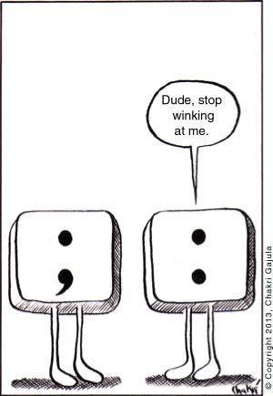 Colon semicolon joke