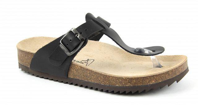 e20c5d47bba Zdravotní obuv Jasný zdravotní žabky černé 2147
