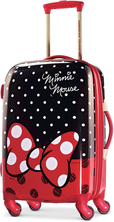 0046de75c3a2 American Tourister Disney Minnie Mouse Red Bow 28 Hardside Spinner ...