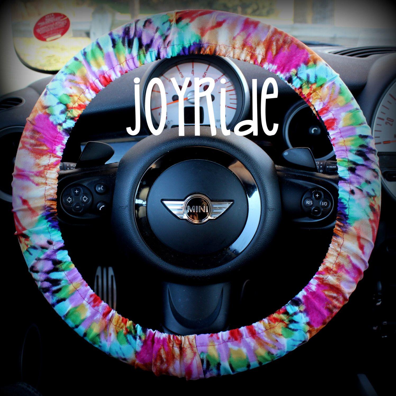 Steering Wheel Cover Tye Dye Rainbow- Cute Car Accessorries Hippie ...