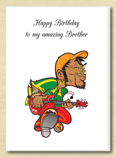 African American Brother Birthday Card A