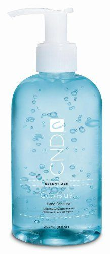 Creative Nail Design Cool Blue Hand Sanitizer 8oz By Cnd Cosmetics