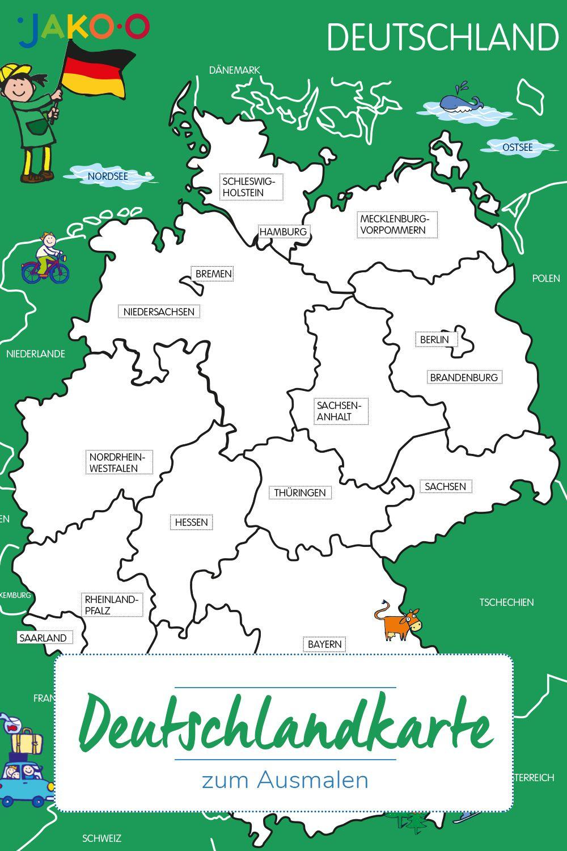 Kostenloses Ausmalbild Fur Kinder Landkarte Deutschland Kostenlose Ausmalbilder Ausmalen