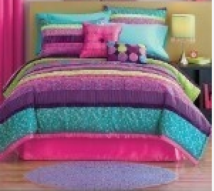 Little Blue Green Pink And Purple Bedding