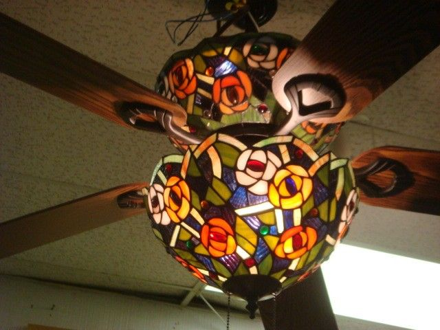 Stained glass ceiling fans photo 10 the casino pinterest stained glass ceiling fans photo 10 aloadofball Images