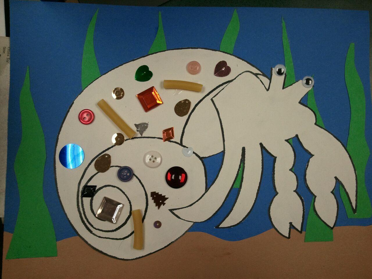 Hermit Crab Craft Found Pattern On