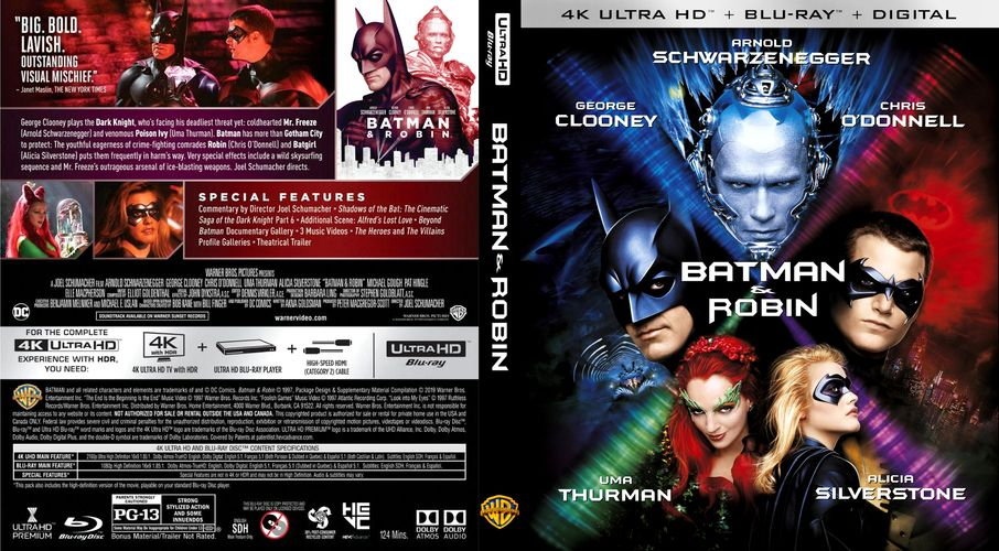 Batman Amp Robin 1997 Custom Blu Ray Cover Batman And Robin 1997 Blu Ray Batman Robin