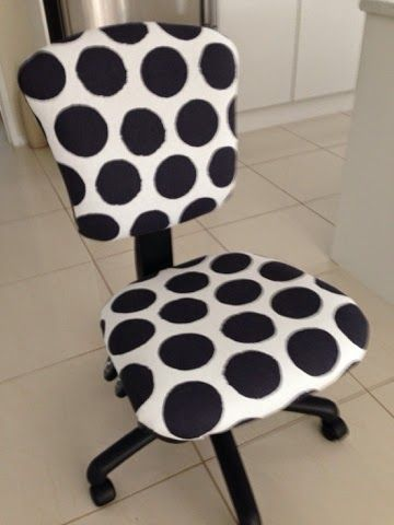 Sparkles in the Everyday!: Re-styled office chair in 5 easy steps....