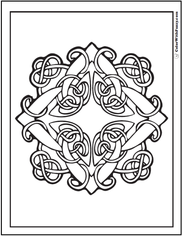 Celtic Knot Coloring Pages Adults Color Free Printable Designs