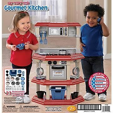 Brilliant American Plastic Toys 23 Piece My Very Own Gourmet Kitchen Download Free Architecture Designs Lukepmadebymaigaardcom