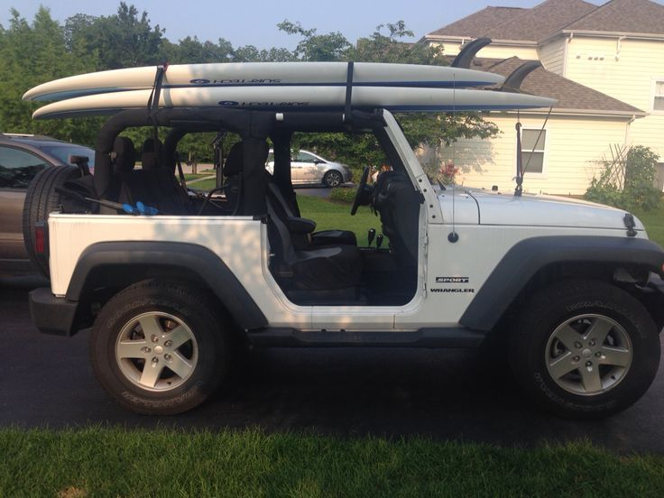 Image result for jeep wrangler roof rack for paddle board
