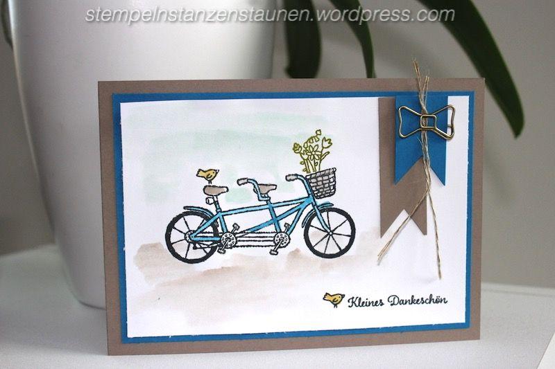 Stempeln Stanzen Staunen, Pedal Pusher, Gemeinsam sind wir stark, Thank you card, Dankekarte, Sale a Bration, SAB, Water coloring, Aqua Painter, Taupe, BastelBazzzille
