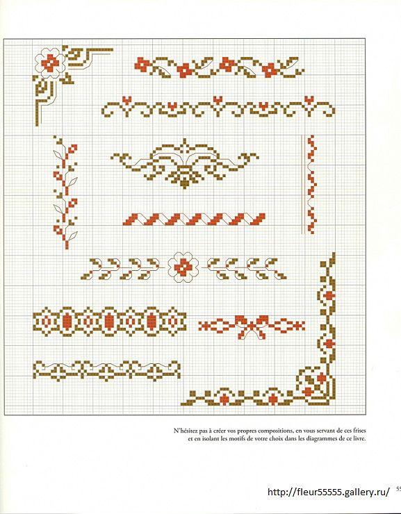 Gallery.ru / Фото #1 - 26 - Fleur55555 borders cross stitch point de croix