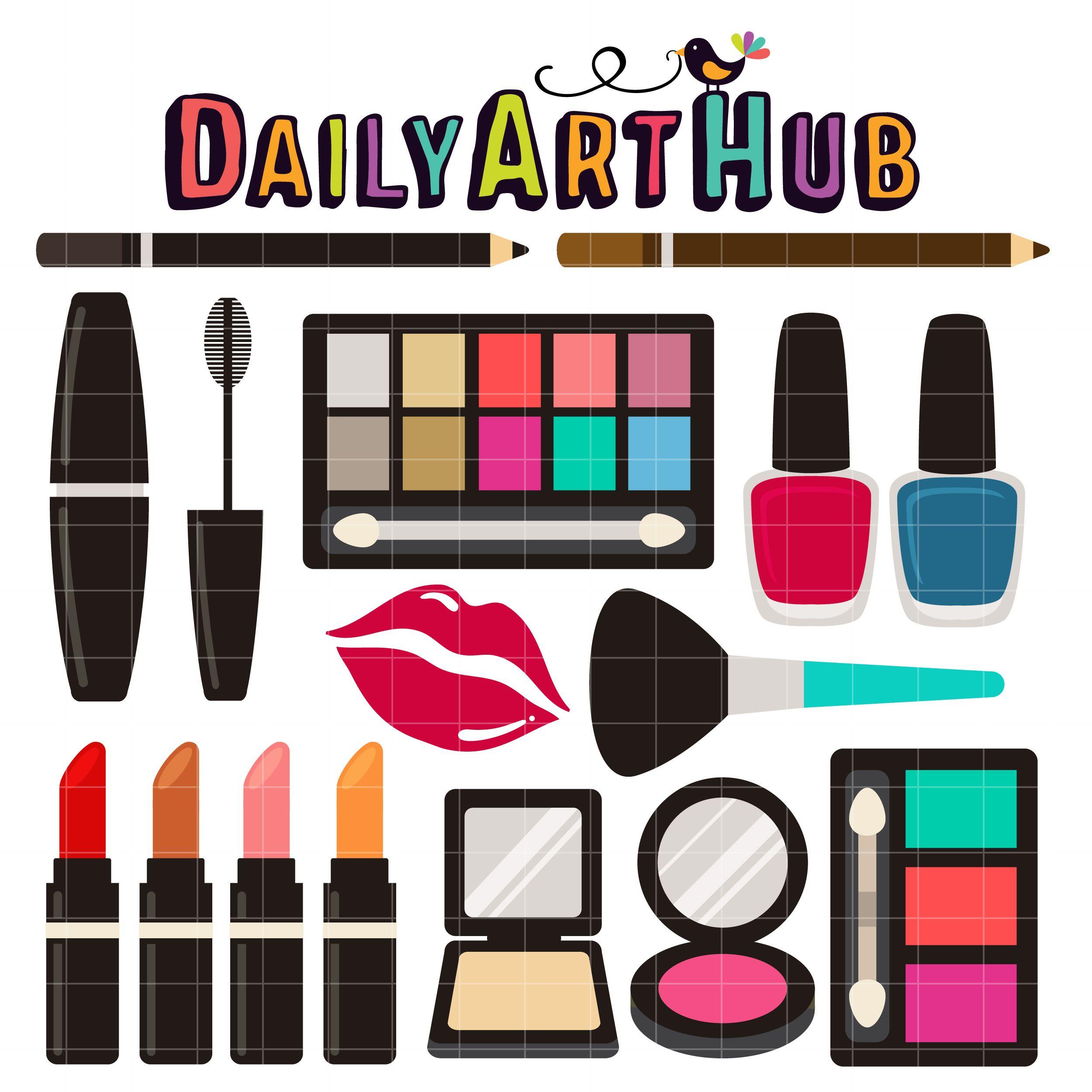 Make Up Kit Clip Art Set Clip art, Makeup kit, Card making
