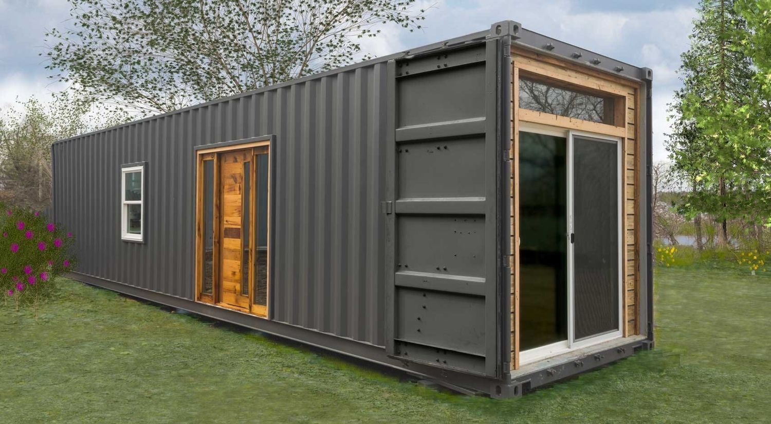 A Well Designed Single Container Home Fully Equipped