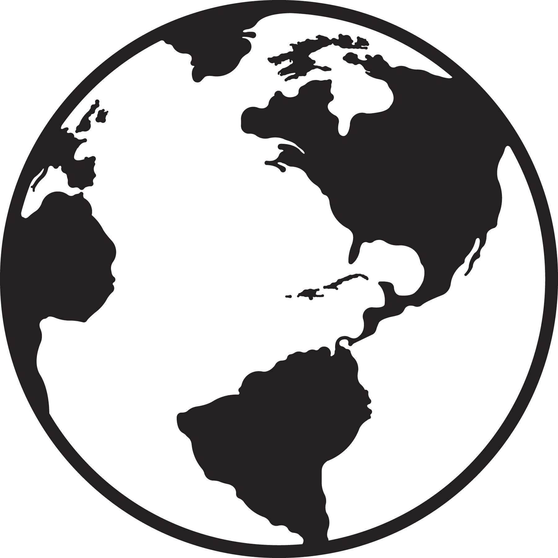 Globe Clipart Black And White In 2021 Clipart Black And White Globe Clipart Clip Art
