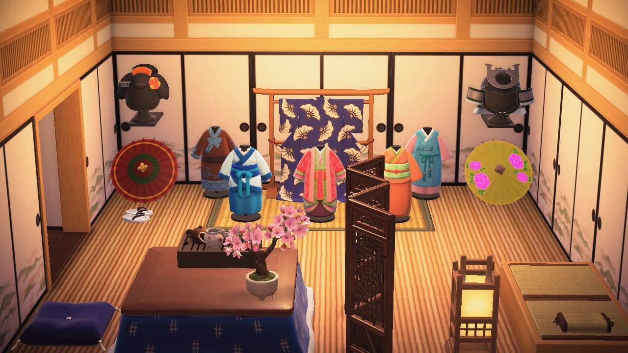 Acnh Japanese Room Animal Crossing Game Animal Crossing Japanese Room