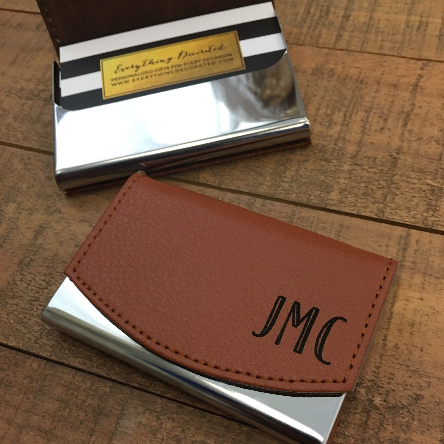 Custom engraved leather business card holder groomsmen gift personalized business card holder business gift corporate gift new job gift colourmoves