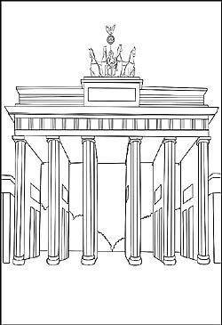 Brandenburger Tor Als Malvorlage Berlin Ausmalen Ausmalbilder