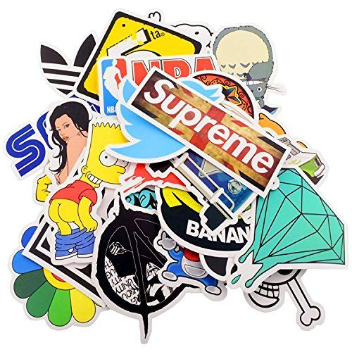 100pcs Car Motorcycle Bicycle Skateboard Laptop Luggage Vinyl Sticker Graffiti Laptop Luggage Decals Bumper Stickers