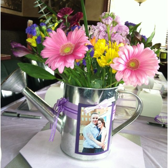 Watering Can Centerpieces My Best Friend S At Her Bridal Shower 04 29 12 Pa